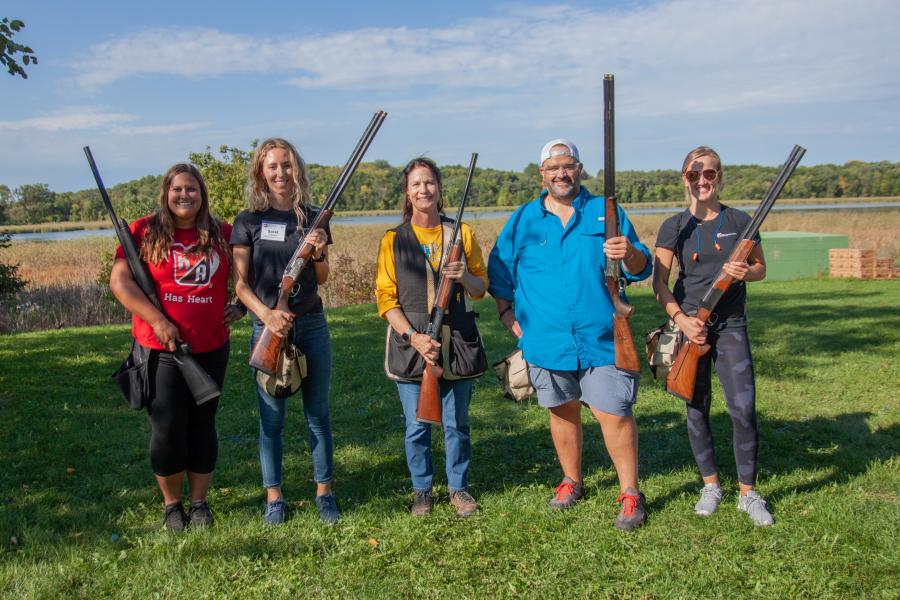 (L-R): Representing Kraus-Anderson Insurance, Amanda Stadtler, Sorel Johnson, Tammy Lofthus, Justin Voerster and Taylor Bohman paused for a team photo.
