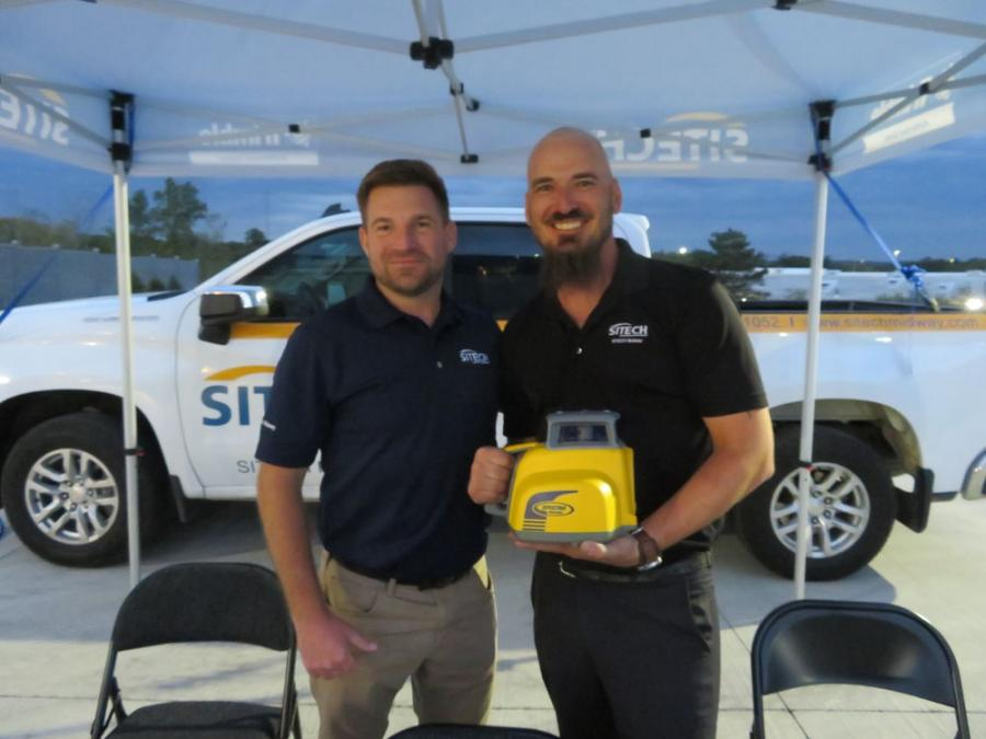 Representing Sitech Midway are Brent Annen (L), general manager, and Kyle Batker, field service technician.