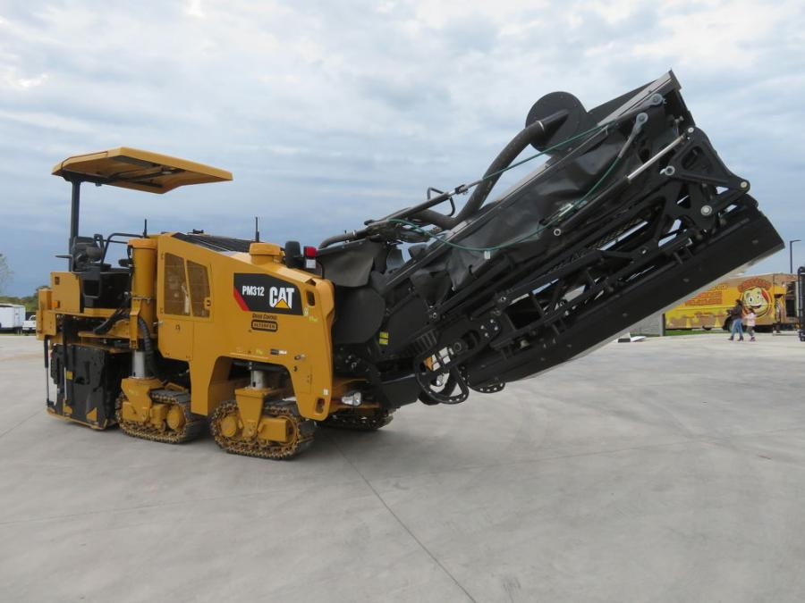 The Cat PM312 cold planer with grade control was on display for the customers to look over.