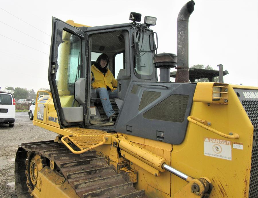 Shane Helms of Helms & Son Excavating puts this Komatsu dozer through its paces.