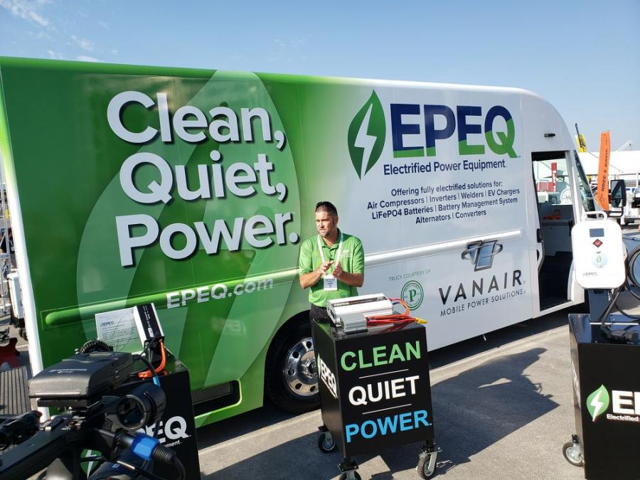 Dean Strathman,  Vanair VP of sales, talks about the EPEQ Electrified Power Equipment product group at Utility Expo.