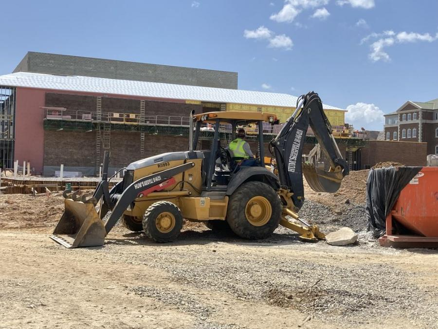 Despite a record-setting snowstorm and a delay in obtaining materials, crews in Conway, Ark., remain on schedule constructing The Windgate Center for Fine and Performing Arts (University of Central Arkansas photo)
