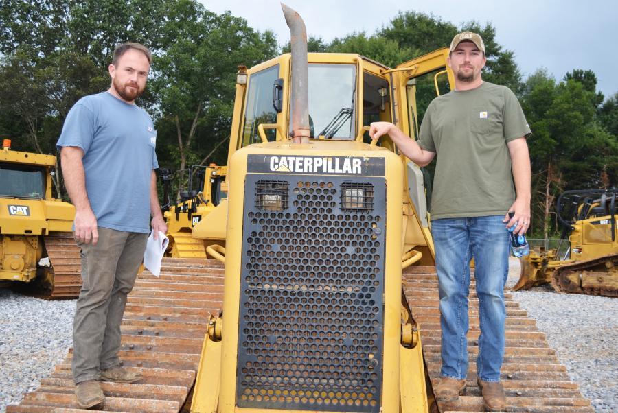 Looking for some more iron for their operations are logging contractors Dakota Pruitt (L), Pruitt & Sons Logging, Fulton, Miss., and Kaleb Barnett, Barnett Logging, Golden, Miss.