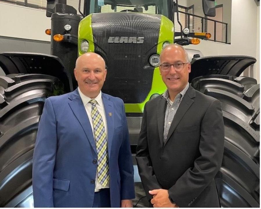 Eric Raby (R) has succeed Leif Magnusson as senior vice president of the Americas Region effective Oct. 1, 2021.
