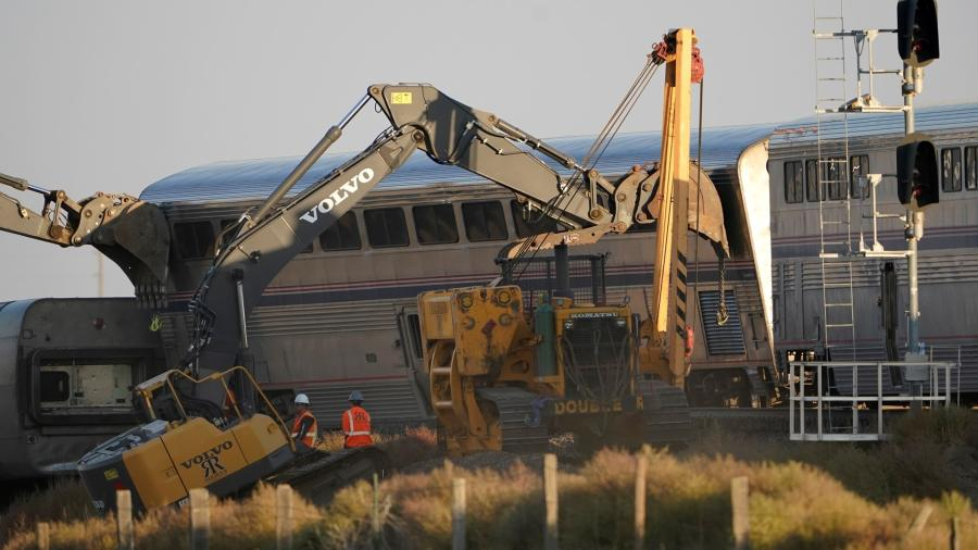 With the help of Volvo, John Deere and Komatsu excavators, emergency responders were able to remove the train cars and other debris caused by the accident.