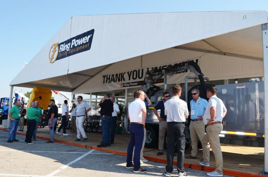 Substantially increasing its exhibit size compared to previous shows, Ring Power Utility Equipment had a continuous flow of show attendees looking at all of their products and services on display.