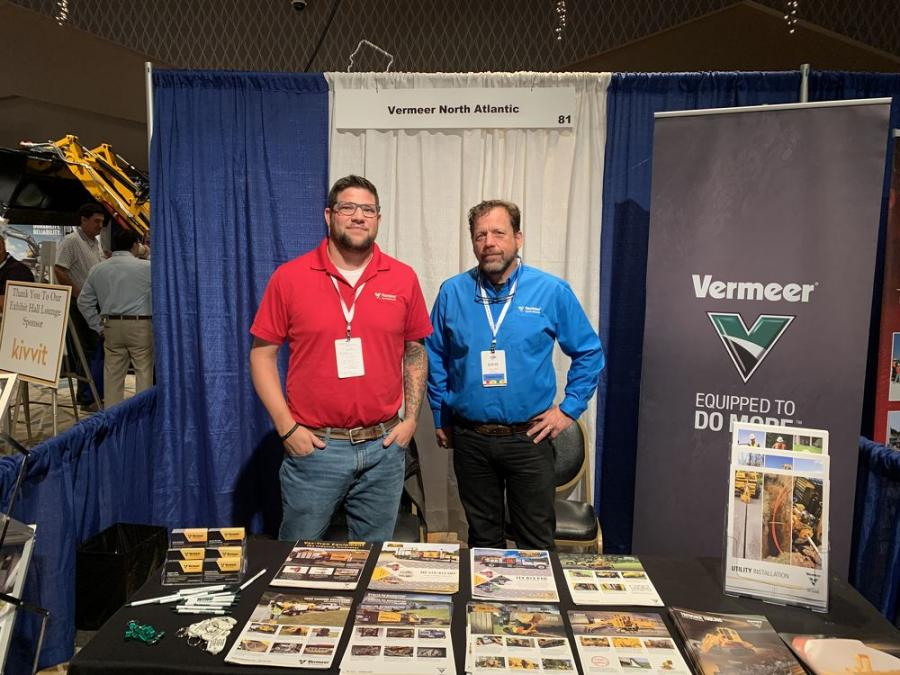 Vermeer North Atlantic's Jonathan Converse (L) and Stephen Raffo, vice president of sales and rentals.