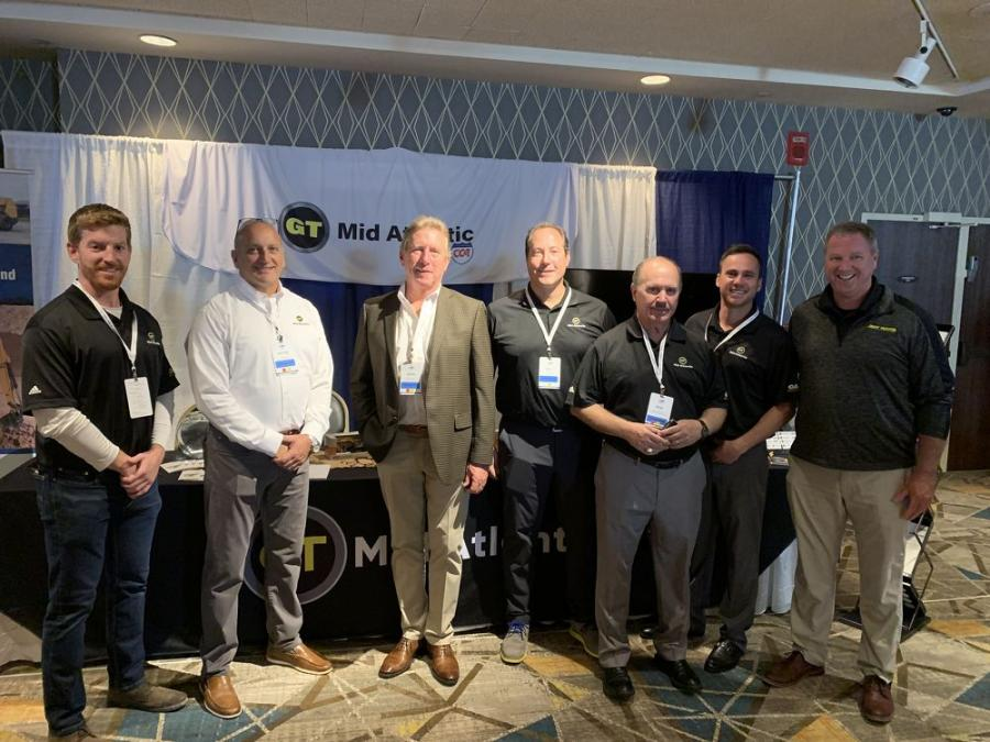 GT Mid Atlantic, a long-standing member of UTCA, gathered for the main event of the year. Representing the company (L-R) are Ed Lafferty, Victor Riga, Sean Collins, Pat Geiger, Bob Taormina, Bill Garofalo and Frank Horan.