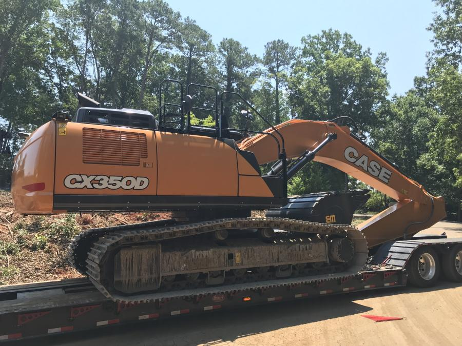 A fleet of Case excavators equipped with Werk-Brau buckets and stump splitters, and dozers fitted with root rakes took on a 25-acre lot covered in mature pine, poplar and oak trees.