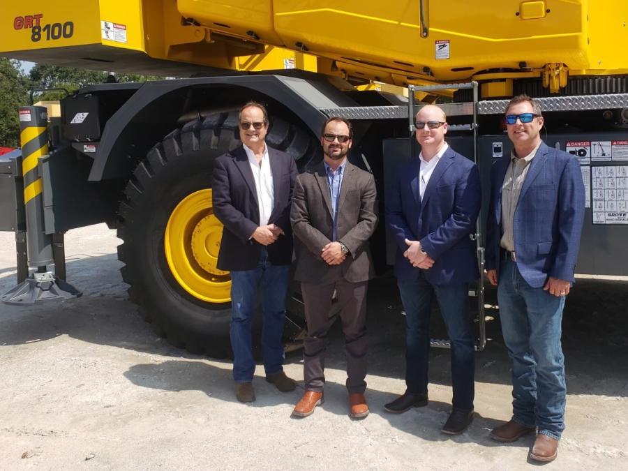 (L-R) are Groves Equipment President Steve McReynolds; EVP Trevor McReynolds; and VPs Logan Delcambre and Don Romaine.
