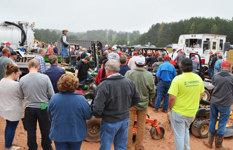 Even before bidding began on the miscellaneous items, a massive crowd congregated to snag some great deals on a wide variety of tools, lawn care and turf machines.