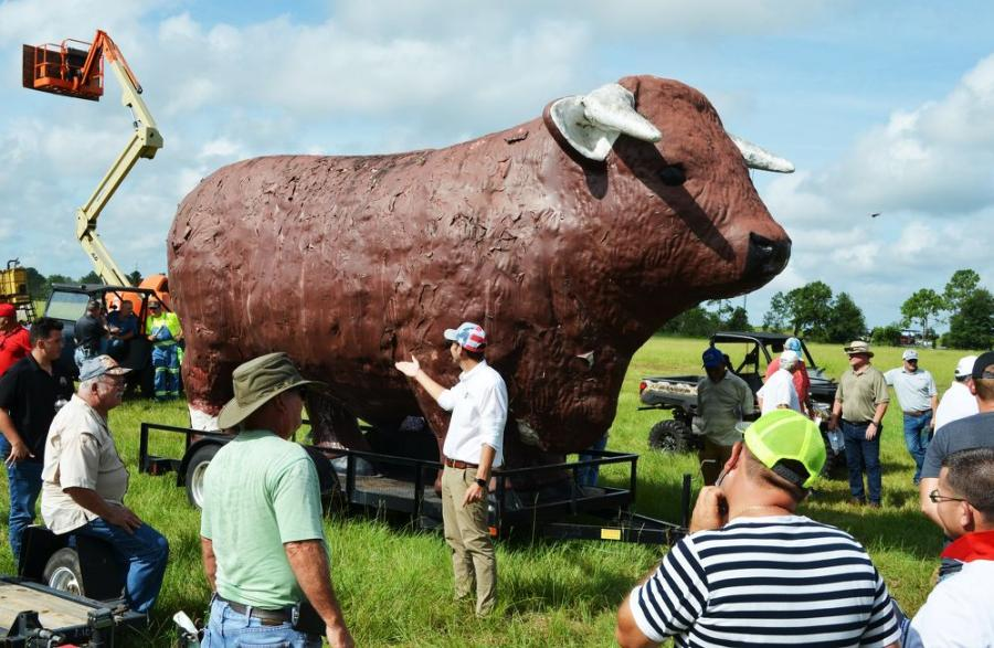At a final gavel price of $4,300, pound-for-pound someone got a great deal on this bigger than life bull. This was once a fixture at a local car dealership.