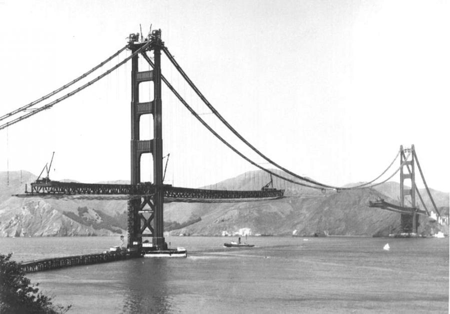 a 7 in 178 cm concrete deck placed over the steel charles heinbockel first worked on the golden gate bridge
