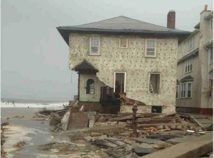 Damage from Hurricane Sandy to house in Brooklyn, NY.  Image courtesy of Wikipedia via Proud Novice.