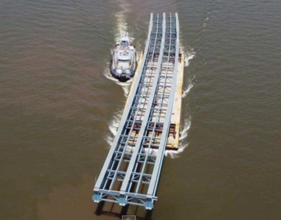 The raw materials, known as welded plate girders, arrive at the port by boat or truck, from plants in Pennsylvania, Virginia and North Carolina.